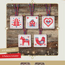 Red & Blue Nordic Christmas Decorations Cross Stitch Kit additional 2
