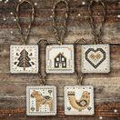 Black & Gold Nordic Christmas Decorations Cross Stitch Kit additional 1