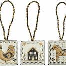Black & Gold Nordic Christmas Decorations Cross Stitch Kit additional 2