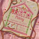 Little Girl Nursery Cross Stitch Birth Sampler Kit additional 1
