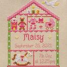 Little Girl Nursery Cross Stitch Birth Sampler Kit additional 2