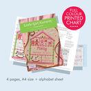 Little Girl Nursery Cross Stitch Birth Sampler Kit additional 3