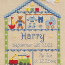Little Boy Nursery Cross Stitch Birth Sampler Kit additional 2