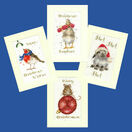 Set Of 4 Wrendale Designs Christmas Card Cross Stitch Kits additional 1