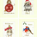 Set Of 4 Wrendale Designs Christmas Card Cross Stitch Kits additional 2