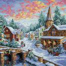 Holiday Village Cross Stitch Kit additional 1