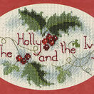 The Holly & The Ivy Christmas Cross Stitch Card Kit additional 2