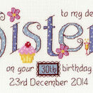 Sister Birthday Cross Stitch Kit additional 1