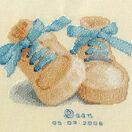 Baby Boots Birth Sampler Cross Stitch Kit additional 1