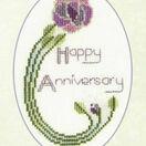 Mackintosh Rose Anniversary Cross Stitch Card Kit additional 2