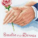 Holding Hands Rose Wedding Sampler Cross Stitch Kit additional 1