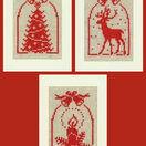 Christmas Silhouette Cross Stitch Card Kits (Set Of 3) additional 1