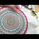 Design Works Mandala - Zenbroidery Fabric Pack additional 2