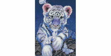 7 Fierce Big Cats Cross Stitch Kits