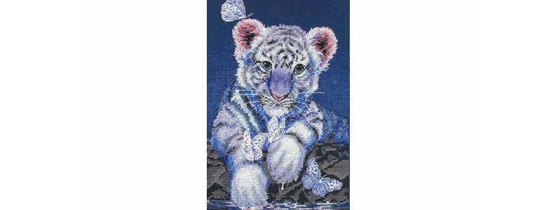7 Fierce Big Cats Cross Stitch Kits