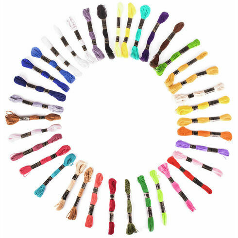 Embroidery Floss - Bright Colours (36 skeins)