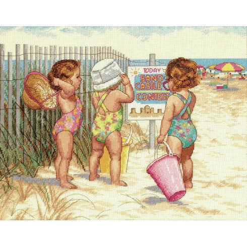 Beach Babies Cross Stitch Kit