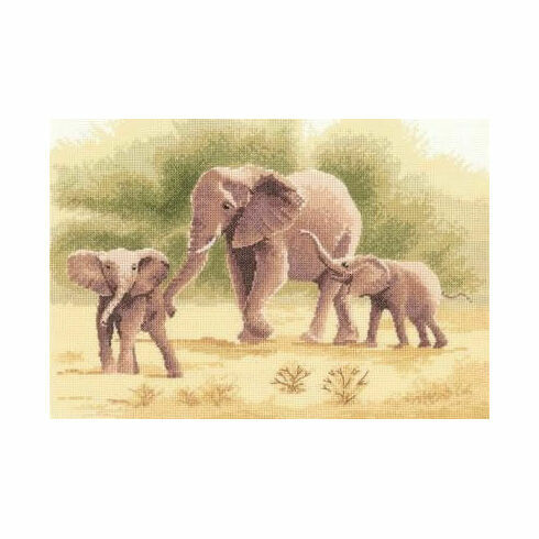 Elephants Cross Stitch Kit