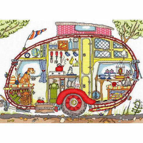 Cut Thru' Vintage Caravan Cross Stitch Kit