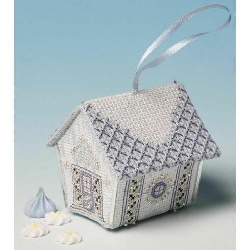 Fondant Icing Gingerbread House 3D Cross Stitch Kit