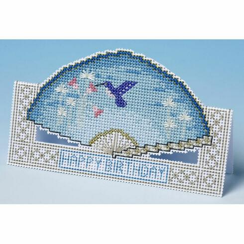 Birthday Fan Card 3D Cross Stitch Kit