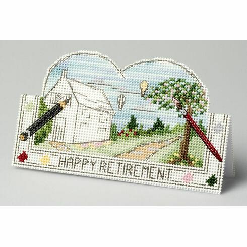 New Beginnings Retirement Card 3D Cross Stitch Kit