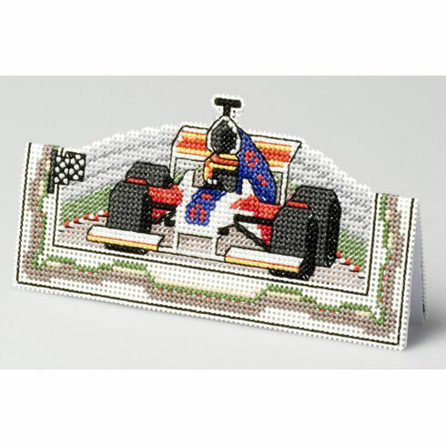 Formula One Card 3D Cross Stitch Kit