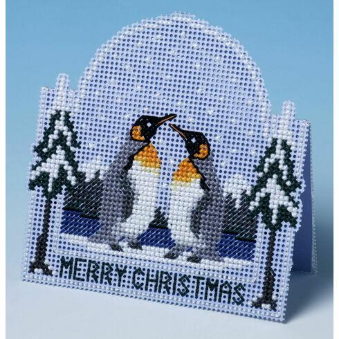 Penguin Christmas Card 3D Cross Stitch Kit