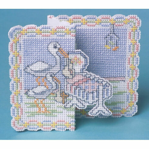 Welcome Baby Card 3D Cross Stitch Kit