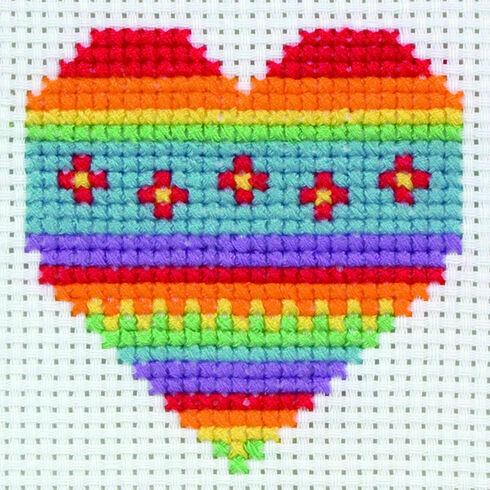 Heart Cross Stitch Kit
