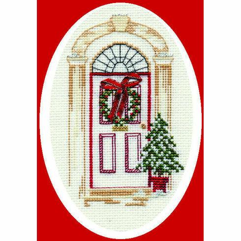 Christmas Door Cross Stitch Card Kit