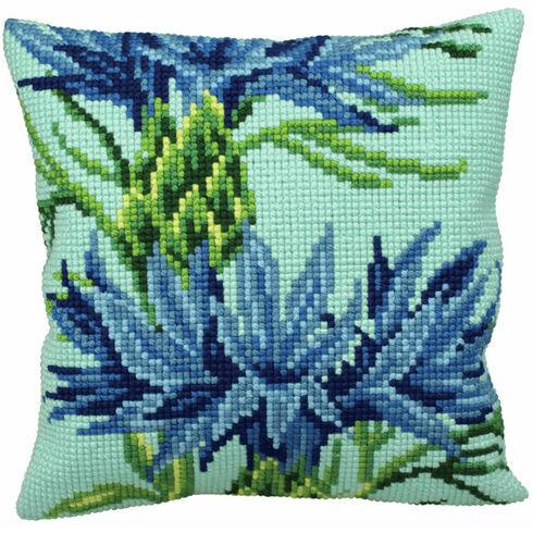Blueberry Cushion Panel Cross Stitch Kit