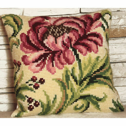 Wild Rose Right Cushion Panel Cross Stitch Kit
