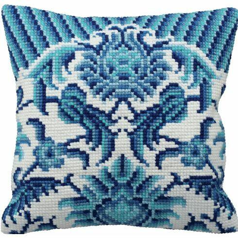 Zelliges Left Cushion Panel Cross Stitch Kit