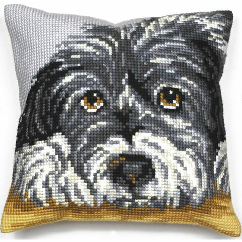 Faithful Dog Cushion Panel Cross Stitch Kit