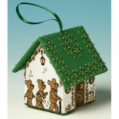 Goldilocks & The Three Bears 3D Pantomime House Cross Stitch Kit