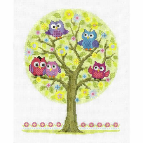 The Owls Have It Cross Stitch Kit
