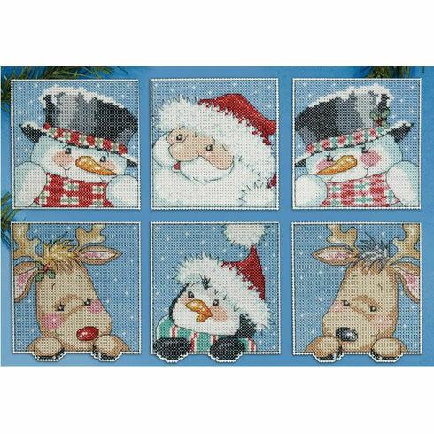 Funny Friends Christmas Cross Stitch Ornaments Kits