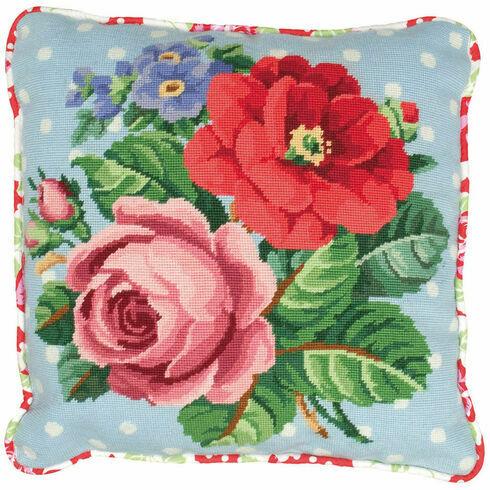 Berlin Rose Cushion Panel Tapestry Kit