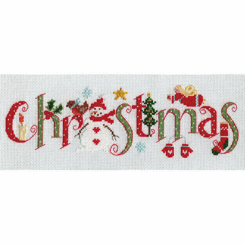 Christmas Word Sampler Cross Stitch Kit
