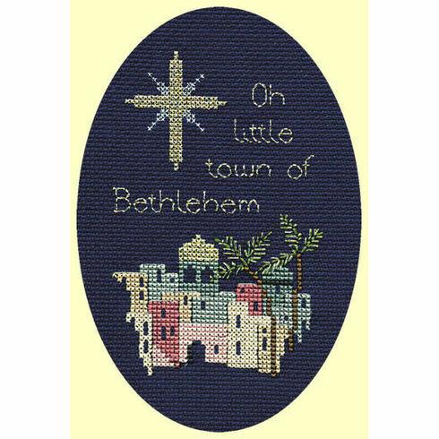 Bethlehem Christmas Cross Stitch Card Kit