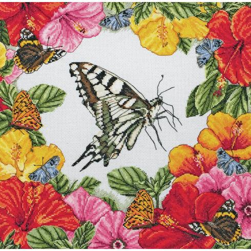 Spring Butterflies Cross Stitch Kit