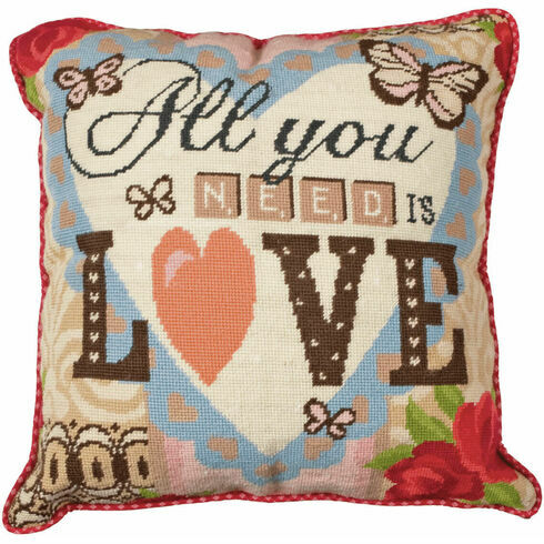 All You Need Is Love Cushion Panel Tapestry Kit