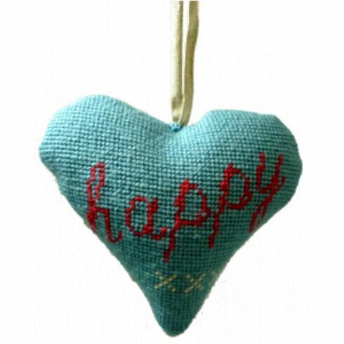 Happy Lavender Heart Tapestry Kit
