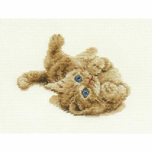 Kitten Playing Cross Stitch Kit