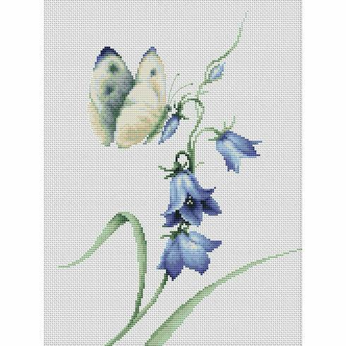Summer Delight Butterfly Cross Stitch Kit
