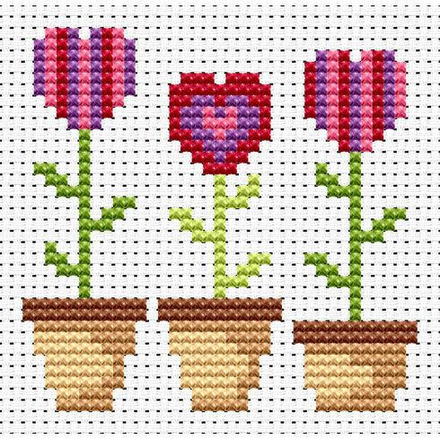 Sew Simple Love Grows Cross Stitch Kit