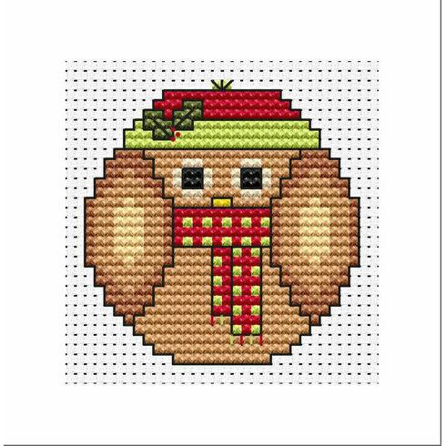 Christmas Twitt Cross Stitch Card Kit