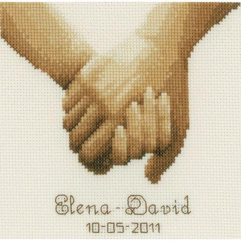 Holding Hands Cross Stitch Kit