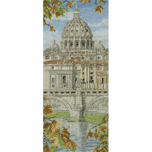 St Peter's Basilica Cross Stitch Kit